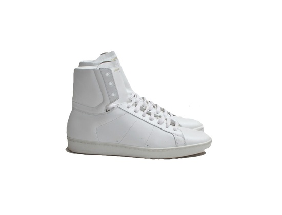 Saint Laurent Classic SL/01H High Top Sneaker in Optic White Leather