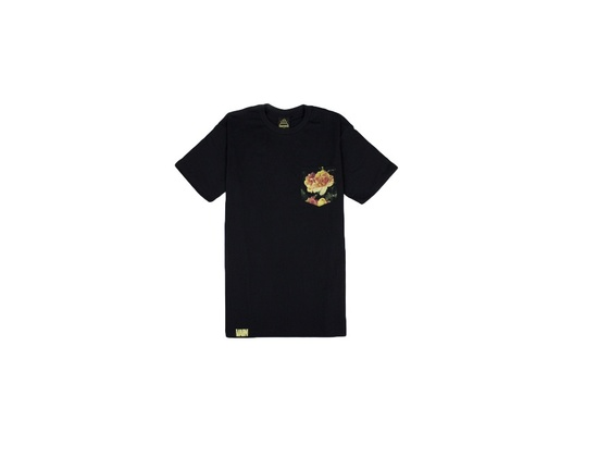 Vintage for the Vain	Rose Collection Black Pocket Tee
