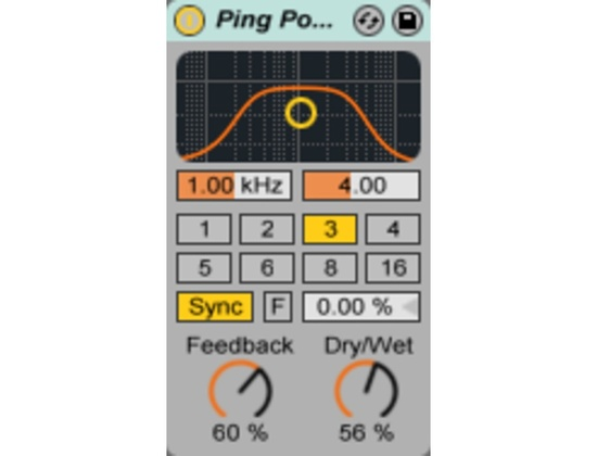 Ableton Ping Pong Delay Plugin