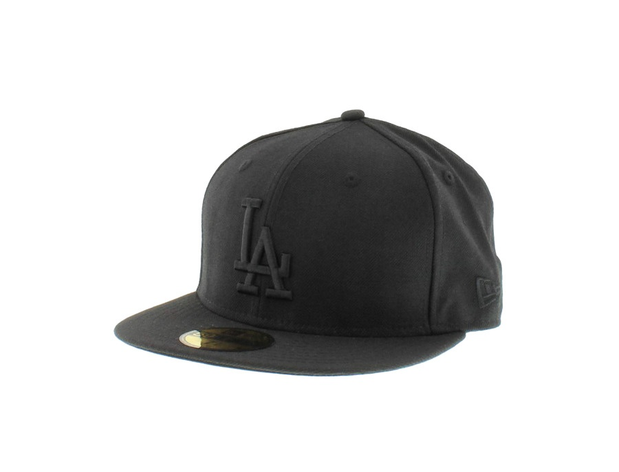 New Era 59FIFTY Los Angeles Dodgers Baseball Cap Black on Black