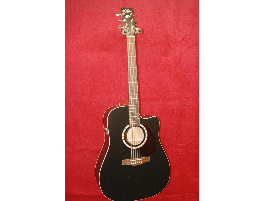 Art & Lutherie Wild Cherry CW Acoustic Electric Guitar Flat Black