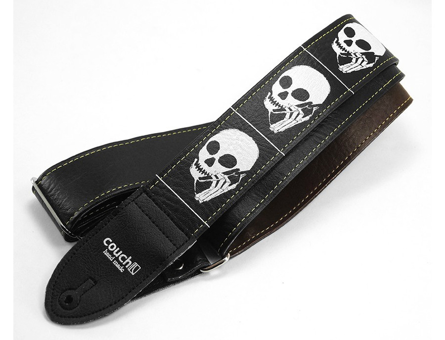 Couch Artist Series Guitar Strap Skullphone Black