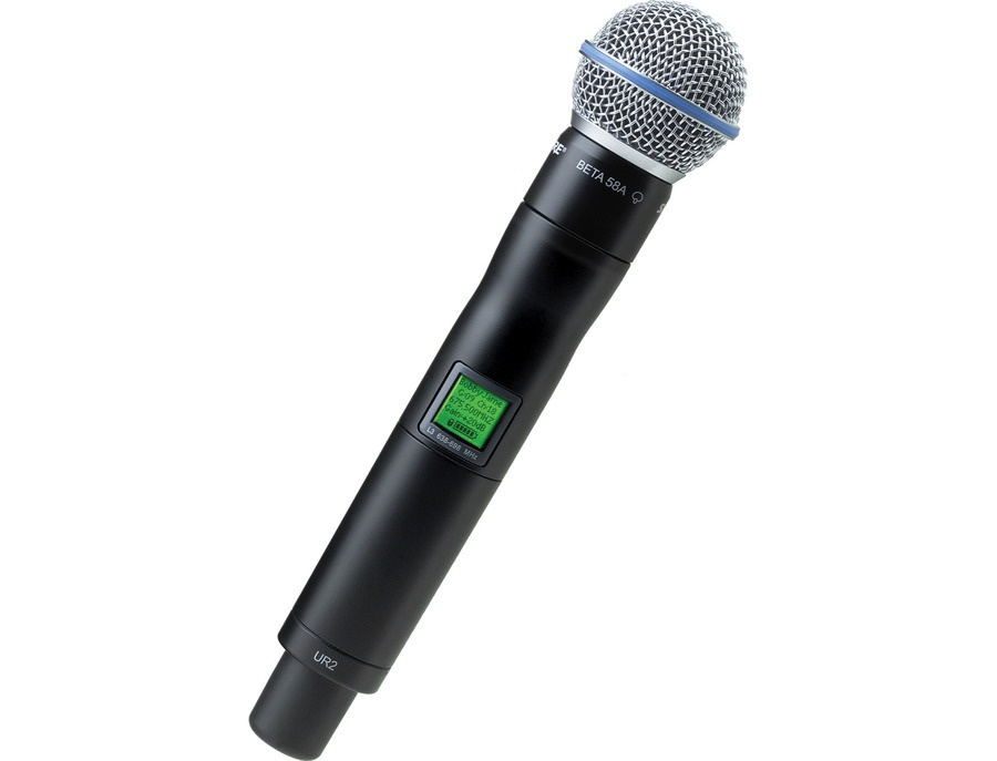 Shure ur2 beta58a handheld wireless microphone transmitter xl