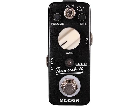 Mooer Thunderball Micro Fuzz & Distortion Bass Guitar Effects Pedal