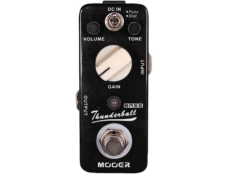 Mooer Thunderball Micro Fuzz & Distortion Bass Guitar Effects Pedal