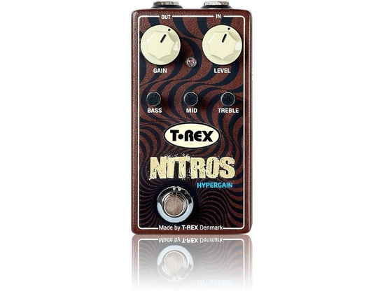 T-Rex Engineering Nitros Hypergain Distortion Guitar Effects Pedal