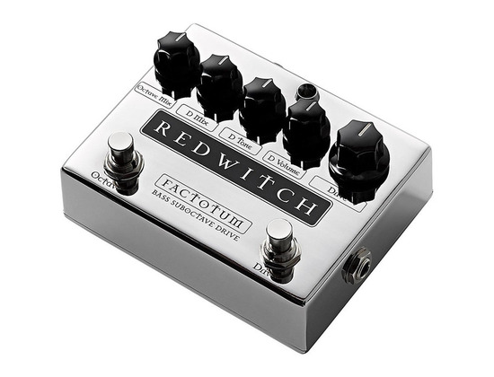 Red Witch Factotum Bass Suboctave Overdrive Guitar Effects Pedal