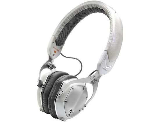 V-Moda Xs On-Ear Folding Design Noise-Isolating Metal Headphone White Silver