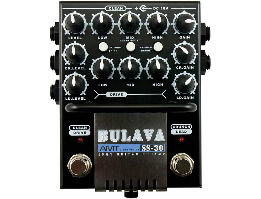 Amt electronics ss 30 bulava 3 channel guitar preamp xl