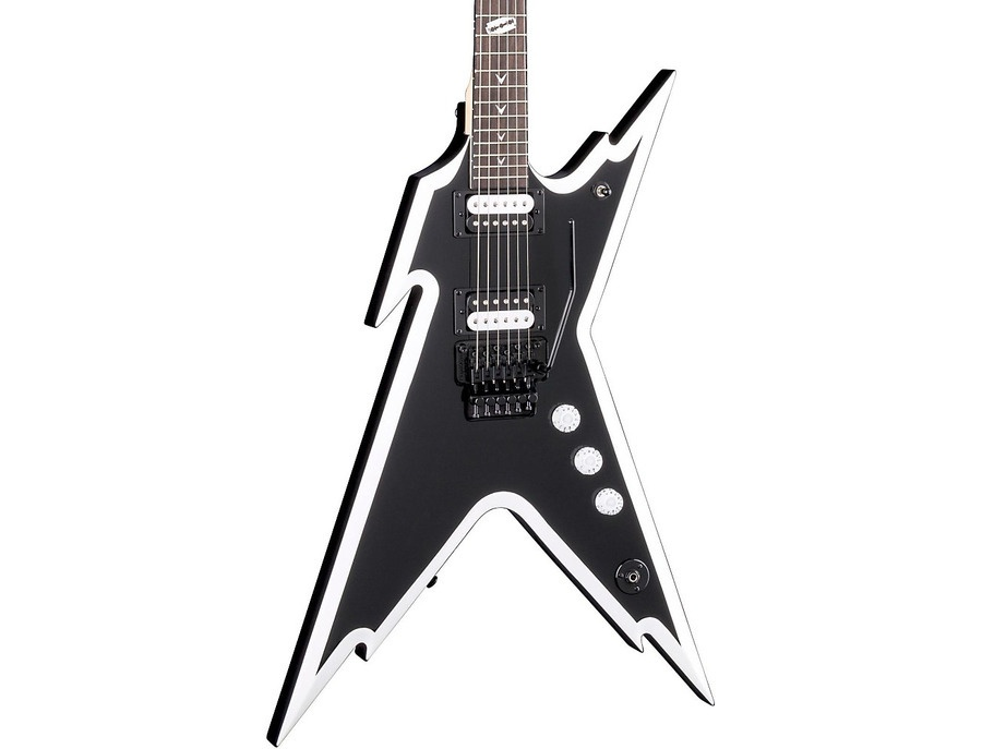 Dean Dimebag Razorback Db Electric Guitar With Floyd Rose Bridge Black And White