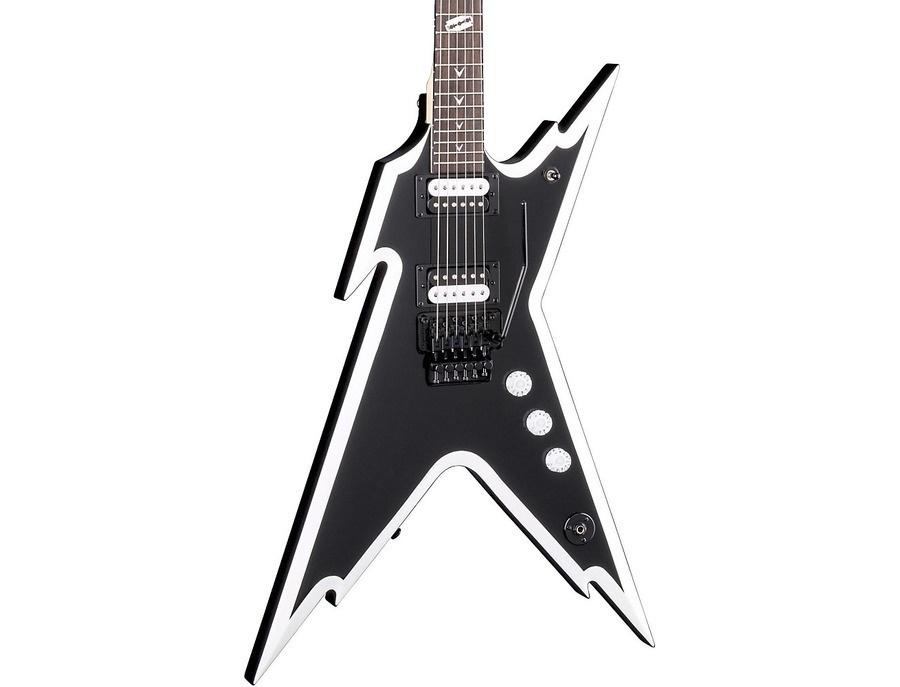 Dean Dimebag Razorback Db Electric Guitar With Floyd Rose Bridge Black And White