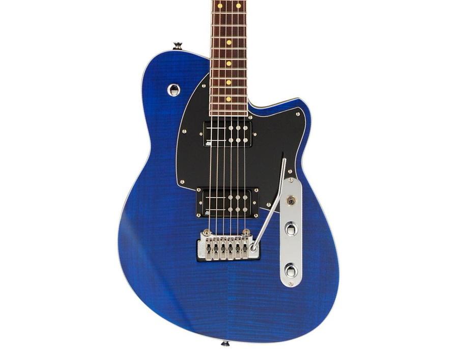 Reverend Reeves Gabrels Signature Electric Guitar Satin Blue Flame Maple