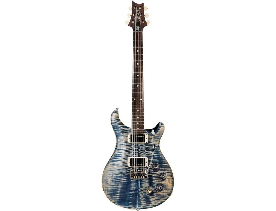 Prs Dgt Carved Figured Maple Top Moon Inlay Faded Whale Blue