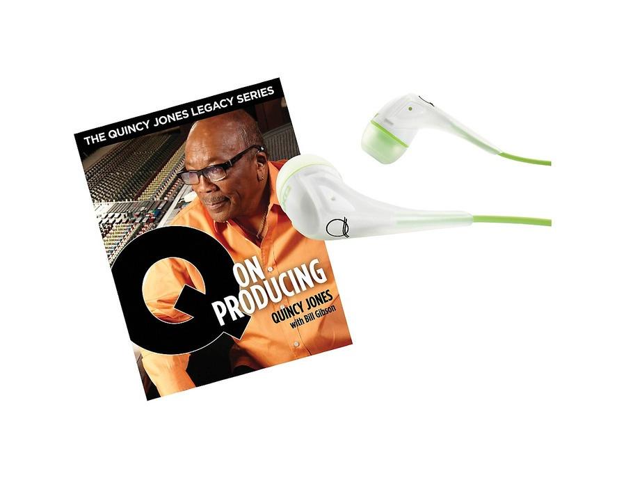 Akg Quincy Jones Q350 Headphones With Q On Producing Book White