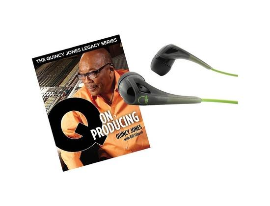 Akg Quincy Jones Q350 Headphones With Q On Producing Book Black