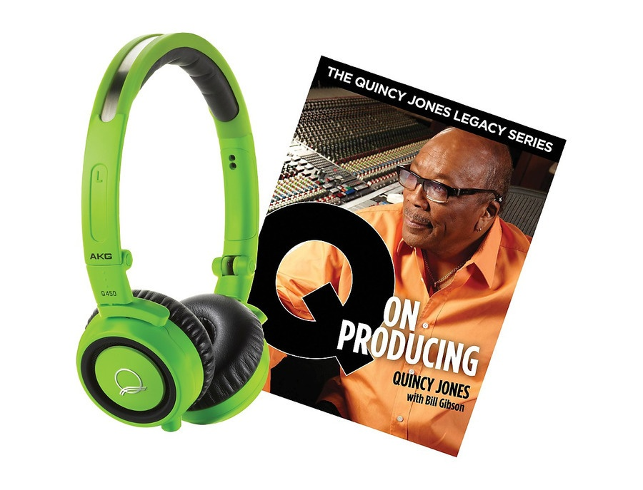 Akg Quincy Jones Q460 Headphones With Q On Producing Book Green