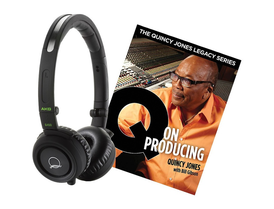 Akg Quincy Jones Q460 Headphones With Q On Producing Book Black