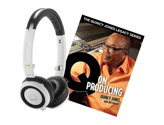 Akg Quincy Jones Q460 Headphones With Q On Producing Book White
