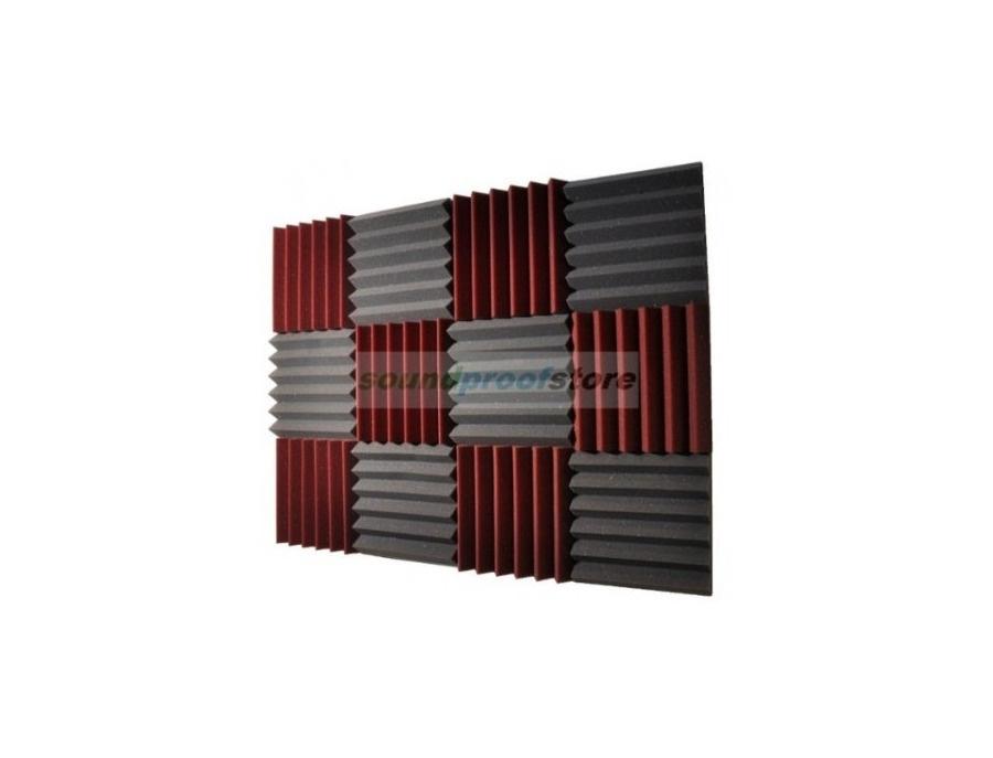 2x12x12 (12 Pk) Acoustic Wedge Soundproofing Studio Foam Tiles