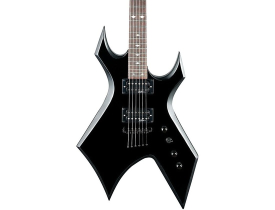 B.C. Rich Warlock Edge Electric Guitar Black W/Satin Bevels