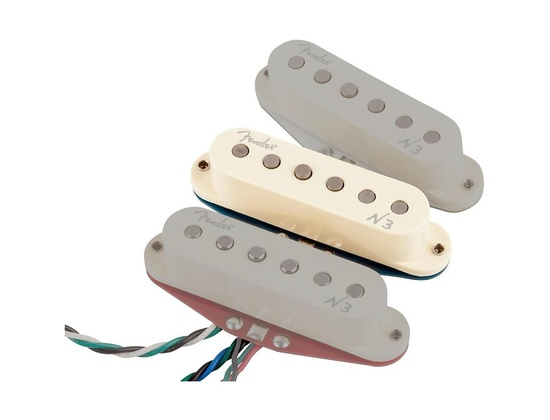 Fender Single N3 Noiseless Strat Middle Pickup White Covers