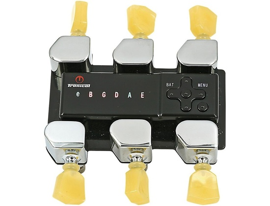 Tronical Tuning Systems Type I Self Tuner for Ibanez Guitars Vintage White Marbled Tulip Button