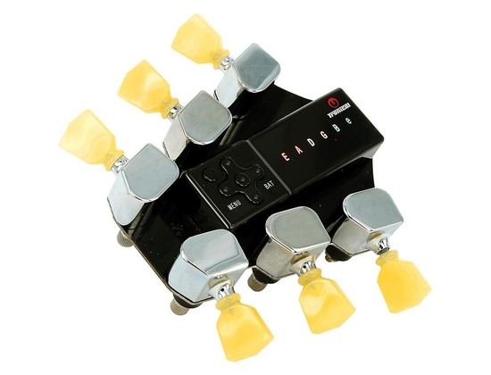 Tronical Tuning Systems Type V Self Tuner for Gibson & Hamer Guitars Vintage White Marbled Tulip Button