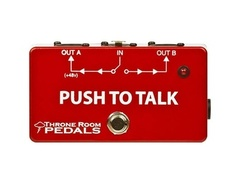 Throne room pedals push to talk box momentary xlr a b switcher s