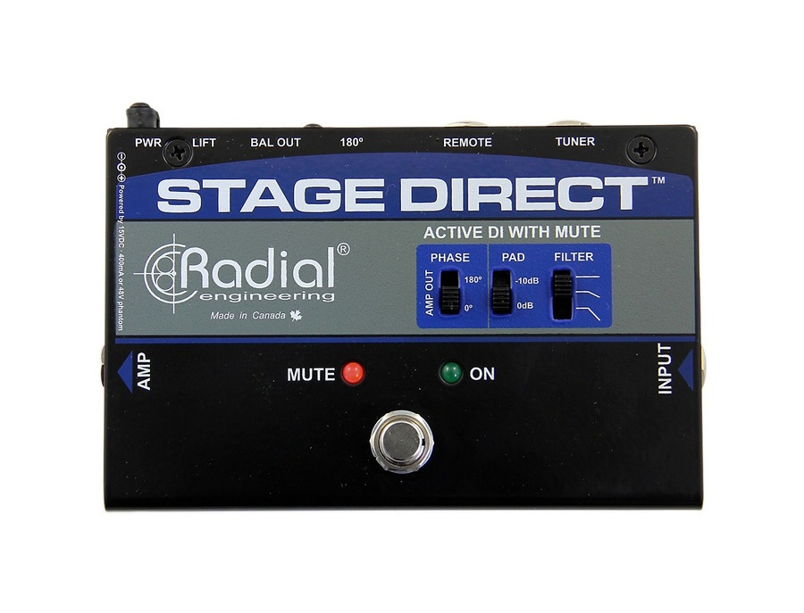 Radial Engineering Stagedirect Active Di Box W/ Footswitch Mute And Tuner Out