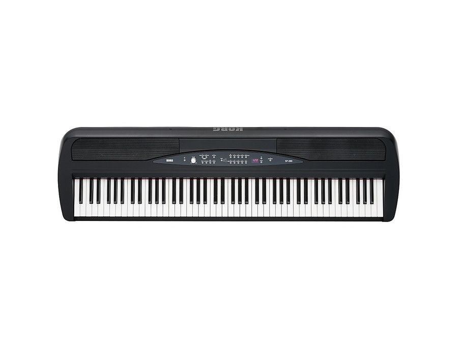 Korg Sp-280 88-Key Digital Piano With Stand Black