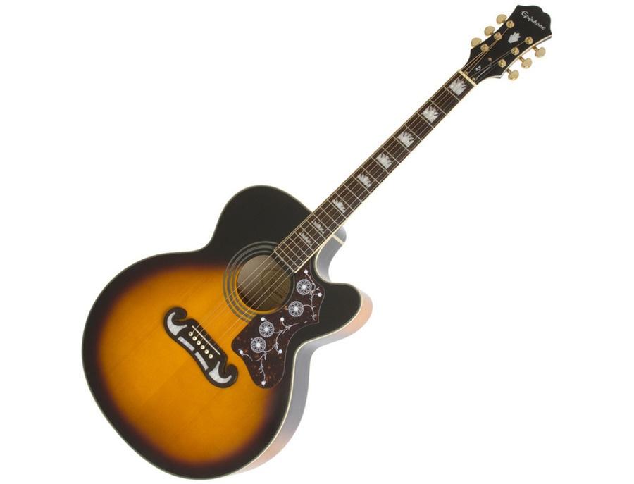 Epiphone EJ-200CE Electro Acoustic Guitar, Vintage Sunburst
