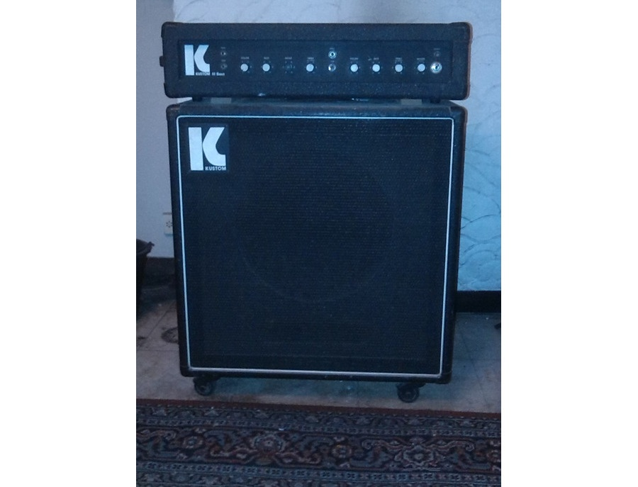 "Kustom III bass amp with 15"" cabinet"