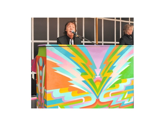 Paul Mccartney's Psychedelic Painted Knight Piano