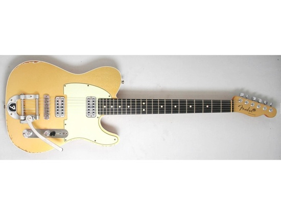 Fender Custom Shop Double TV Jones Relic Telecaster Electric Guitar w/Bigsby Gold