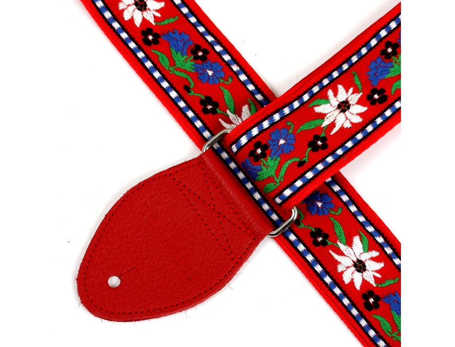 Souldier Vintage Guitar Strap Edelweiss Red