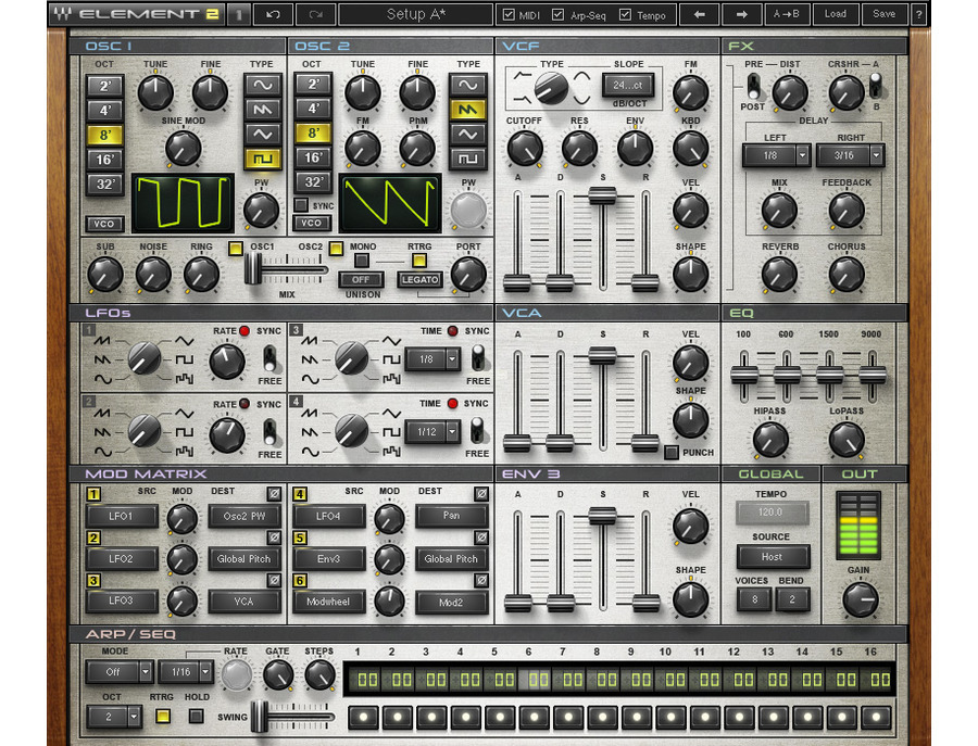 Waves Element 2.0 Virtual Analog Synth