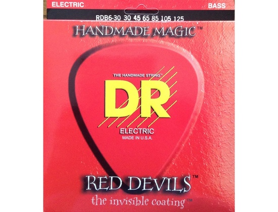 DR RDB6-30 Red Devils Coated BASS Guitar Strings 30-125 6-string set