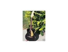 Fender malibu 1960s acoustic guitar black s