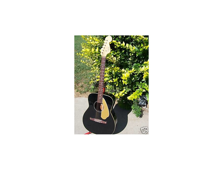 Fender Malibu 1960s Acoustic Guitar (Black)