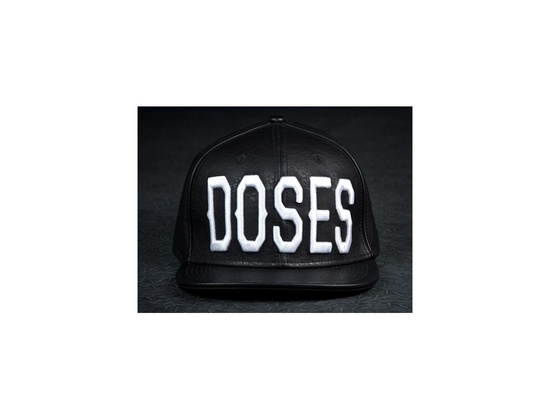 "Daily Doses ""DOSES"" Leather Strapback Cap"