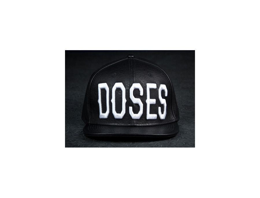 """Daily Doses """"DOSES"""" Leather Strapback Cap"""