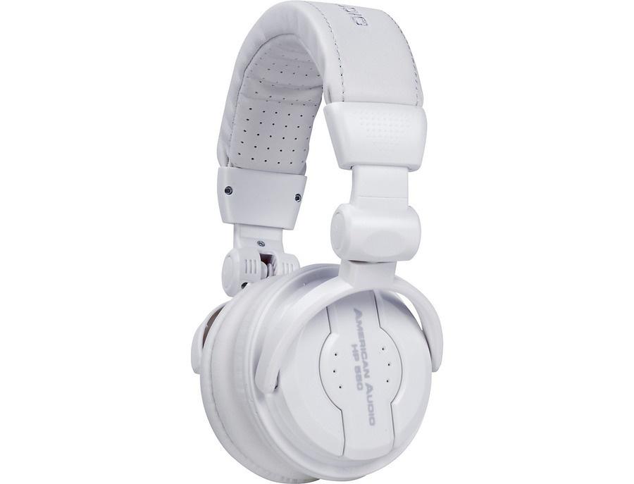American Audio HP550 Professional Studio Headphones Snow