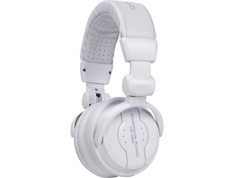American Audio HP550 Professional Studio Headphones Snow