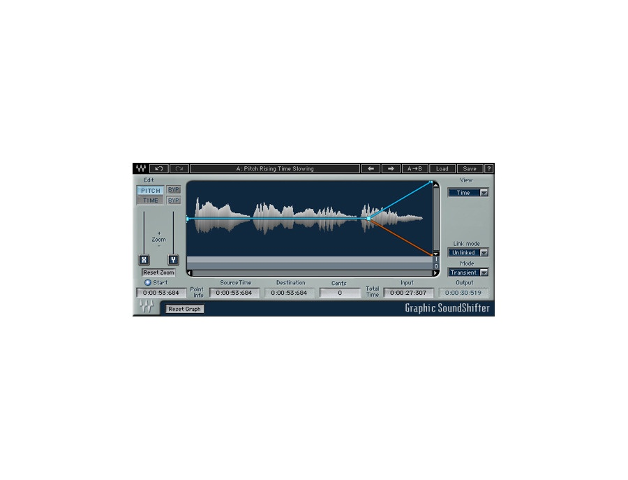 Waves soundshifter pitch shifting software plugin xl