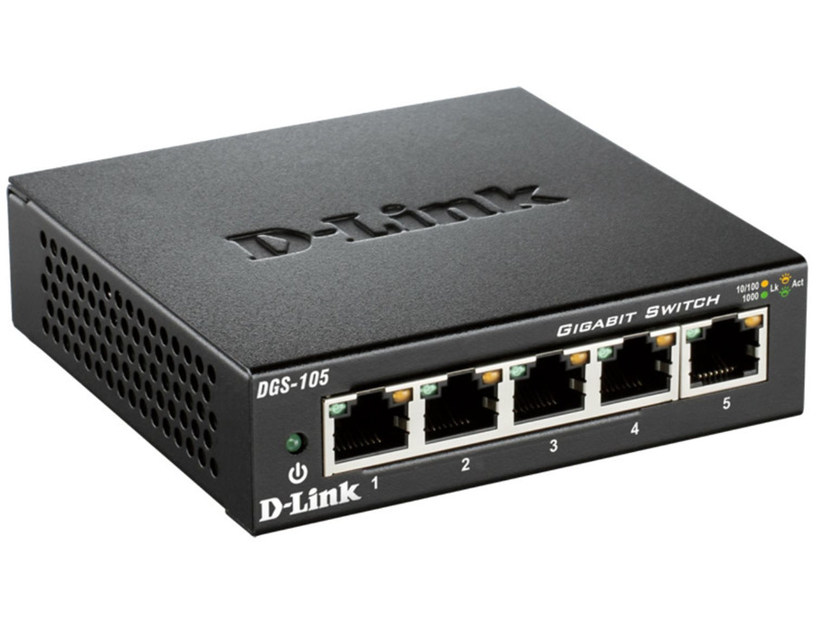 D-Link DGS-105 5-Port Gigabit Switch