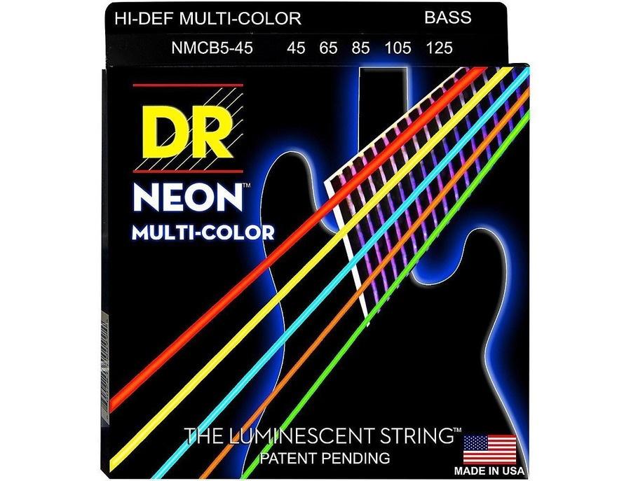 DR Strings Hi-Def NEON Multi-Color 5-String Bass Strings