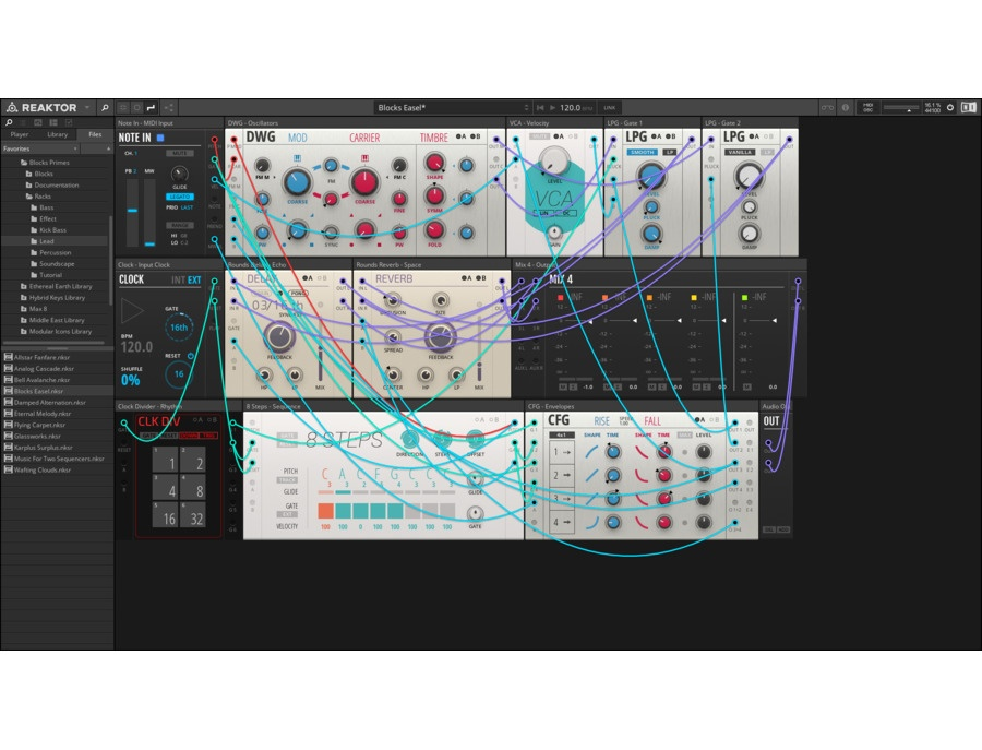 Native instruments reaktor software synthesizer xl