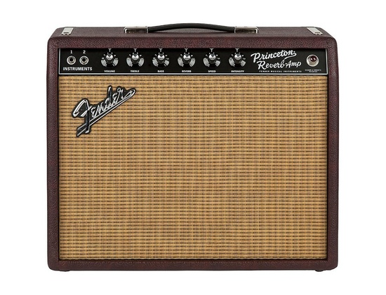 Fender Limited Edition '65 Princeton Reverb 15W 1x12 Tube Guitar Combo Amp Bordeaux Reserve