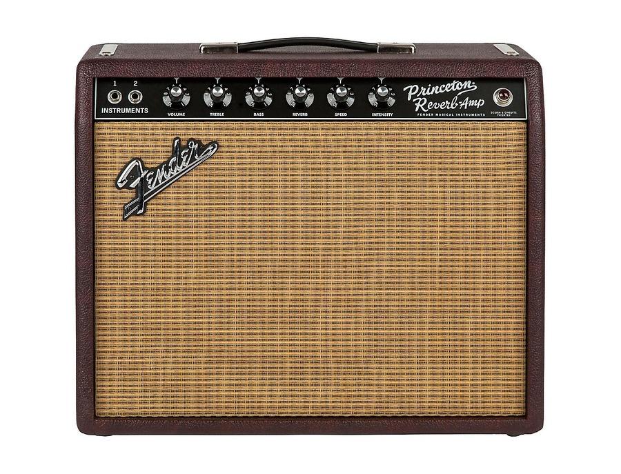 Fender Limited Edition '65 Princeton Reverb 15W 1x12 Tube Guitar Combo Amp Bordeaux Reserve