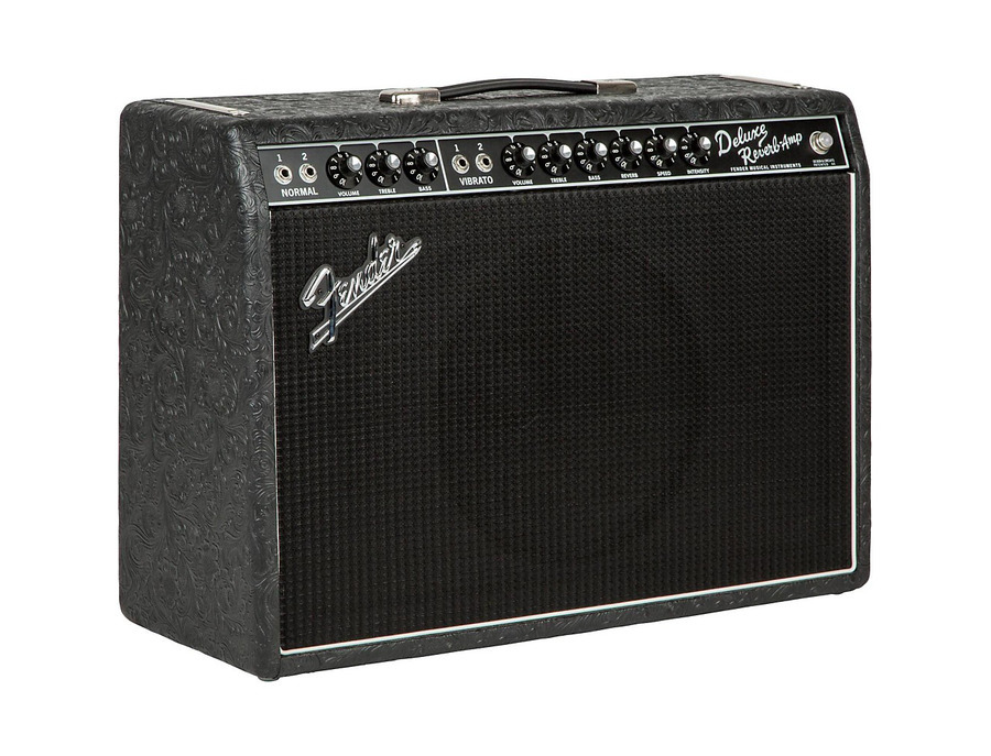 Fender Limited Edition '65 Deluxe Reverb 22W Tube Guitar Combo Amp Black Western